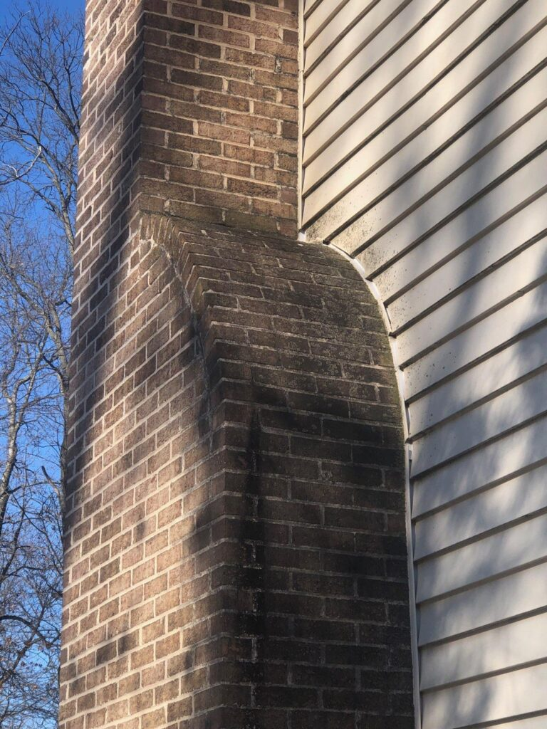 Chimney shoulder repair