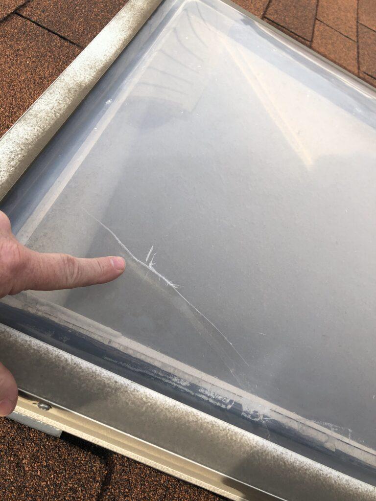 Cracked skylight Replacement Skylights Fairfax VA