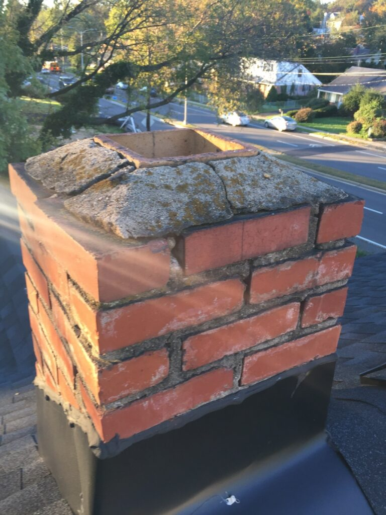 cracked chimney cap northern virginia