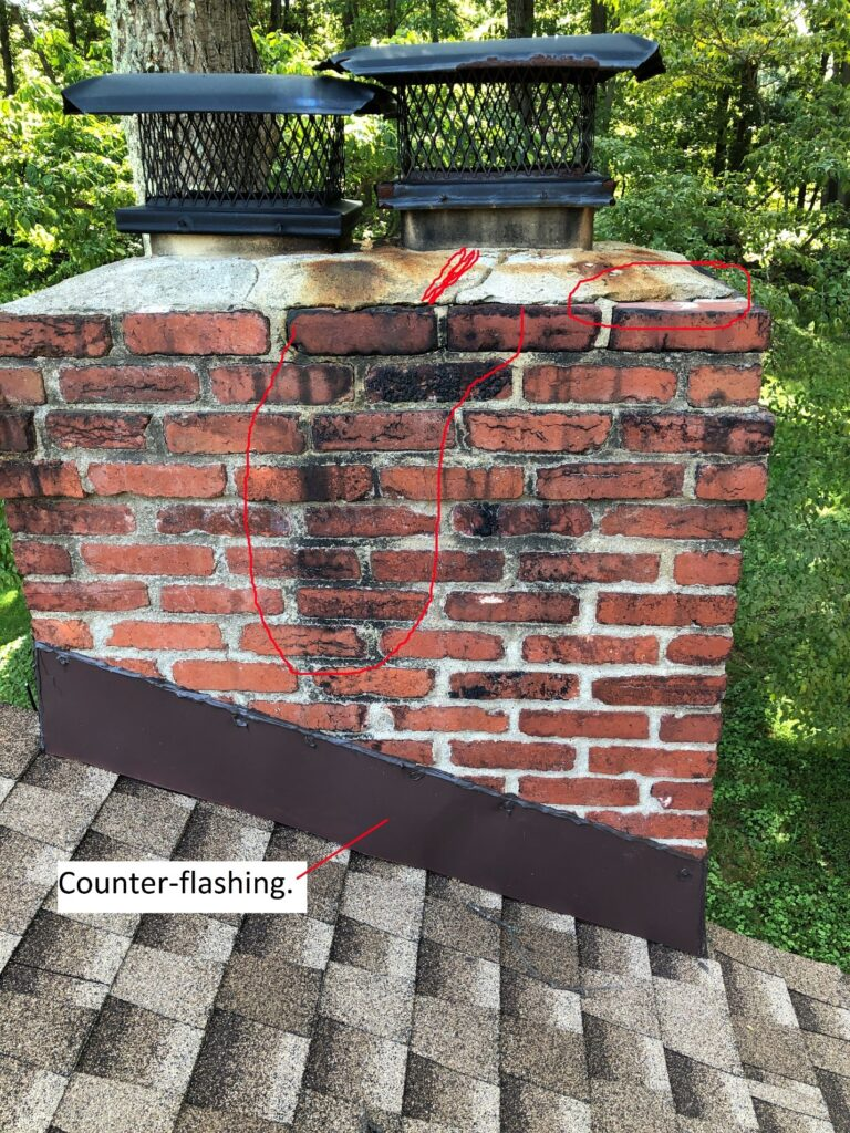 Chimney damage repair fairfax va
